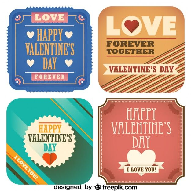 More retro Valentine's Day Printables / Digital Goodies!