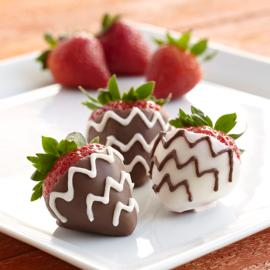 Chevron Dipped Strawberries
