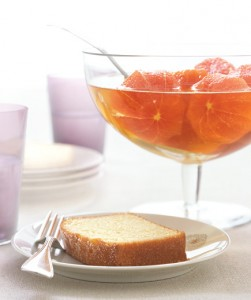 Boozy Clementines With Pound Cake Clementines steeped in honey and brandy are a delicious grown-up topping for slices of buttery cake.