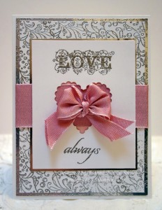 bow love card