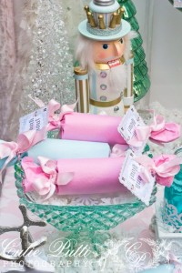 Such pretty favors at a Sugarplum fairy party!