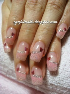 Cynful Nails: Pink gel nails