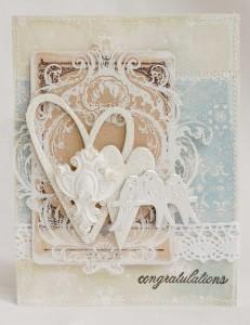 shabby chic, elegant card