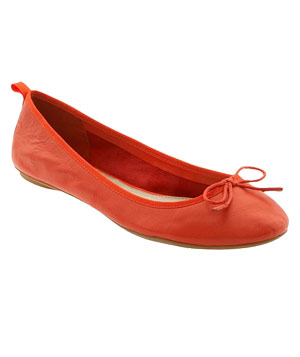 Leather Ballet Flat by Gap  Dorothy had the right idea. Click your heels in the 21st-century answer to ruby slippers―flats in comfortable soft leather with rubber soles.