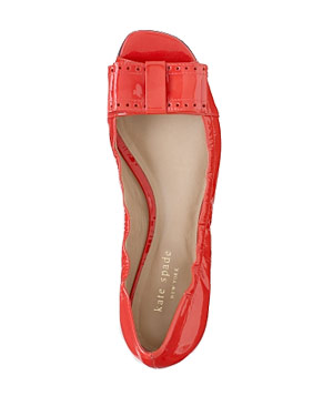Bow Flats by Kate Spade Put a little spring in your step (wishful thinking) with these patent-leather flats. Rubber soles make them just as comfortable as they are cute.