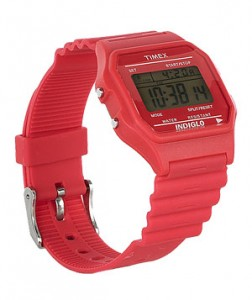 Timex80 Digital Watch Though it had its heyday in the 1980s, this rubber-strapped digital watch has proved to be, well, timeless.