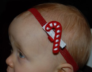 Nap Time Crafts: Christmas Hair Clips