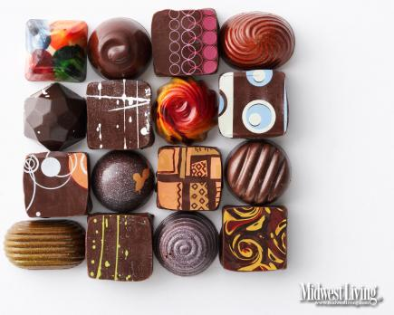 Chocolate art  Chocolates created by Christopher Elbow in Kansas City, Missouri, are tiny works of art — tempting to the eye as well as the palate.