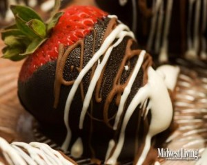 Chocolate strawberries  Strawberries dipped in chocolate are among the specialties at Chocolate Cafe in South Haven, Michigan.
