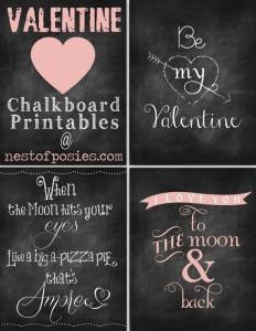 Valentine Printables #Chalkboard #Printables