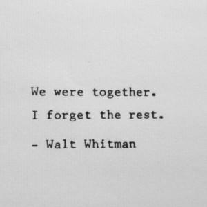whitman wisdom
