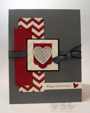 Hearts A Flutter Stampin' Up! 2013 Spring Catalog Card…in addition to the new stamps, Hearts A Flutter Framelits and Occasions Paper-Piercing Pack are used. Other product from the Annual catalog finish this card