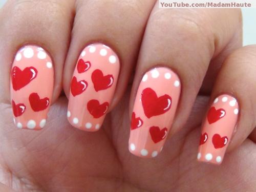 Valentine's Day Nail Art Idea