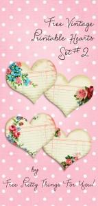 Vintage Printable Hearts