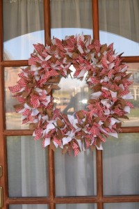 Ribbon/Burlap Wreath VALENTINES DAY home decor