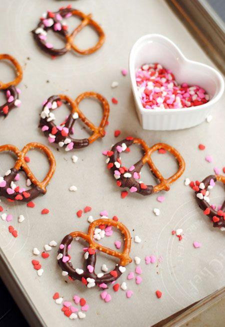Pink party pretzels