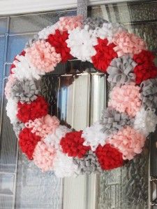 Felt Valentine's Day Wreath