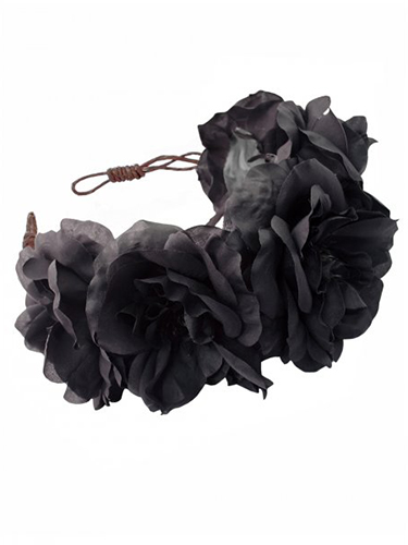 Black rose If bright florals feel a bit more festival than festive, try this incredible black rose crown which will update your staple party outfit. Plus it doubles up as a bad hair day-hider.