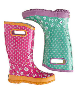 BOGS Fun Rain Boots Singing in the rain is so much more fun with a fashionable pair of wellies. She's bound to wear these waterproof knee-high kicks even when there are no puddles to pounce in.