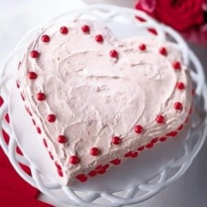 A Hearty Dessert This Valentine's Day dessert gets its color from strawberries and red