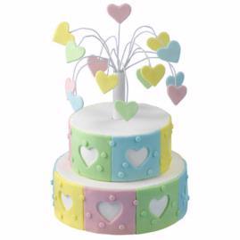 Heart Fireworks Cake