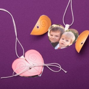 Pink Heart Locket for Valentine's Day Kids will love making and gifting this sweet pink heart locket for Valentine's Day.