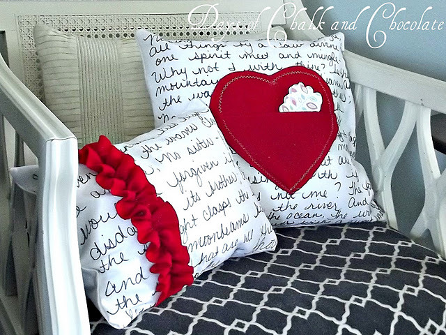 Heart Love Note Pillow