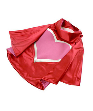 The Heroic Heart Cape If capes were reserved for superheroes, then this one is sure to capture the hearts of those brave little tots in your life.