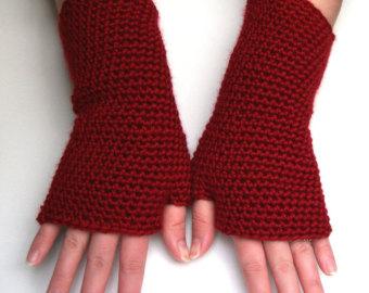 Hot Pink Fingerless Gloves Crochet