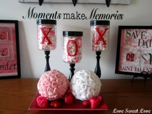 DIY Valentine Candy Jars
