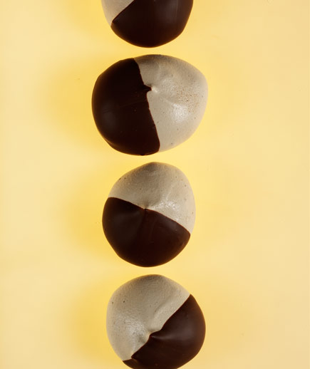 Chocolate-Dipped Espresso Meringues These crisp, light-as-air cookies are a delicious marriage of coffee and chocolate.