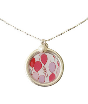 Balloons Necklace If balloons and bunnies are part of her daydreaming world, then this antique silver plated necklace will speak to her heart for years to come.
