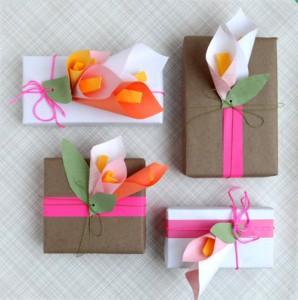 Paper Calla Lilies.