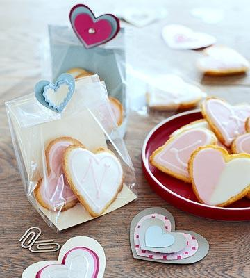 Puffed Heart Lemon Cookies  A lemon-flavor glaze, colored white or pink, adds a sweet-tart topping to these cakelike confections.