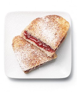 Raspberry Panini Score bonus points by using a heart-shaped cookie cutter to create sandwiches that look as sweet as they taste.
