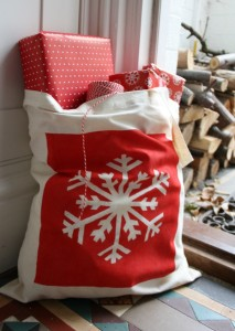 Hand Stenciled Festive Tote Bags