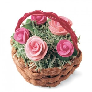 R is For Rose Basket Cupcake See what's in bloom with these rose cupcakes