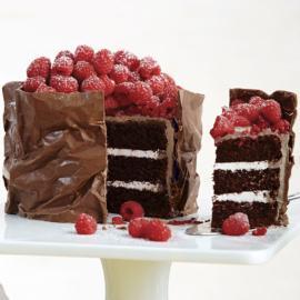 Sweet Candy Embrace Raspberry Cake