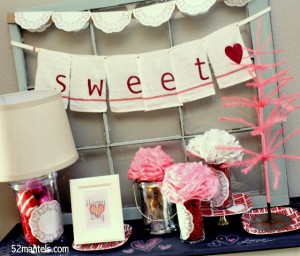 Tea Towel Sweetheart Banner