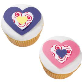 Triple Heart Cupcakes
