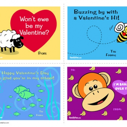 Valentines Day Cards to Print Classroom cards are made easy