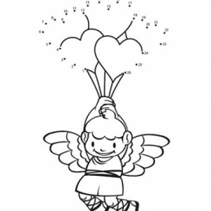 Cupid Connect-the-Dots Activity for Valentine's Day Find out what Cupid is holding when your child connects the dots!