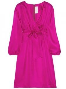 Dani Silk-Twill Dress