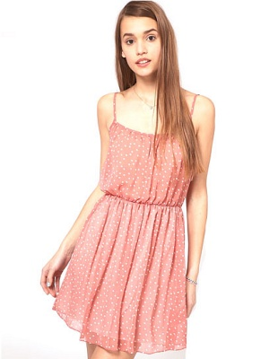 Mini Dress in Spot Print
