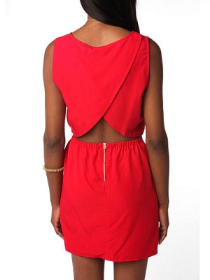 Cutout Tulip-Back Dress