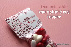 Valentine Treat Topper Printable