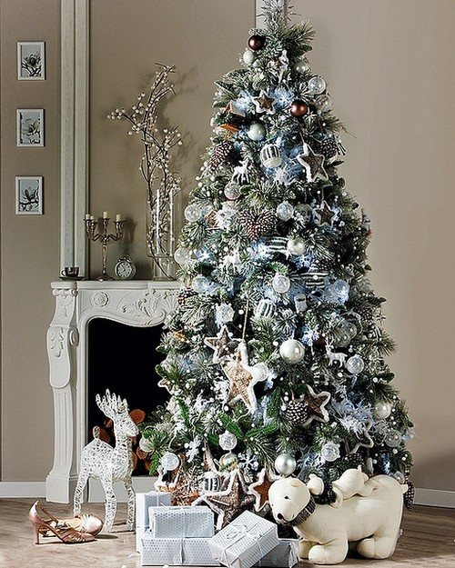 Exciting Silver And White Christmas Tree Decorations 15